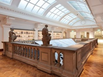 Image of level 2 looking over the atrium area of the Glynn Vivian Art Gallery