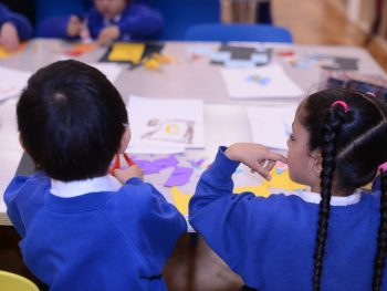 School pupils at a learning event at the Glynn Vivian Art Gallery