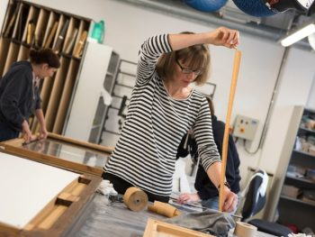 Photograph of Glynn Vivian Art Gallery Conservators at work Photo © Philip Rees