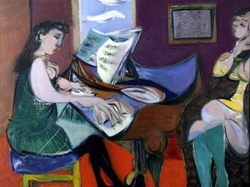 """The Pianist, 1948"" Ceri Richards (1903-1971) Glynn Vivian Art Gallery © Estate of Ceri Richards/ DACS 2008"