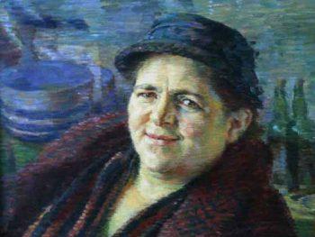 """""""Cockle Woman, 1939"""" Evan Walters (1893-1951) Glynn Vivian Art Gallery © Estate of Evan Walters"""