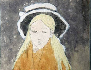 """Little Girl Wearing a Straw Hat"" Gwen John (1876-1939) Glynn Vivian Art Gallery © Estate of Gwen John / DACS 2008"