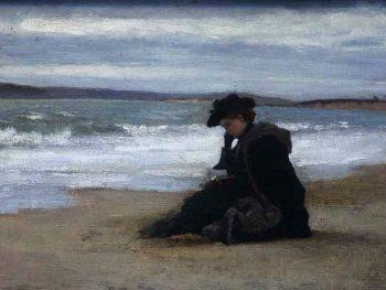 """On the Beach Bournemouth"" Henry Scott Tuke (1858-1929) Glynn Vivian Art Gallery"