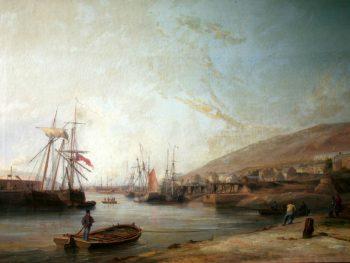 """Hafod Copper Works River Tawy, c.1840s"" James Harris Snr. (1810-1887) Glynn Vivian Art Gallery"