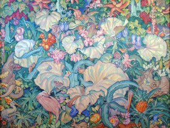 """British Empire Panel (No.13 / East Africa)"" Sir Frank Branwgyn RA (1867-1956) Glynn Vivian Art Gallery"