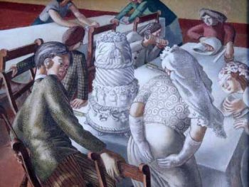 """Marriage at Cana, Bride & Bridegroom, 1953"" Sir Stanley Spencer R.A. (1891-1959) Glynn Vivian Art Gallery ©The Estate of Stanley Spencer 2008. All rights reserved DACS"