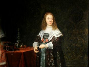 """Portrait of a Young Lady"" Bartholomeus van der Helst (1613–1670) Glynn Vivian Art Gallery"
